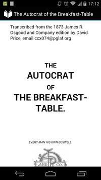 Autocrat of Breakfast-Table poster