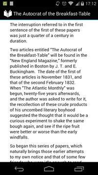 Autocrat of Breakfast-Table apk screenshot