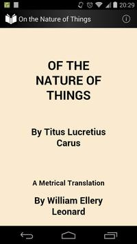 On the Nature of Things poster