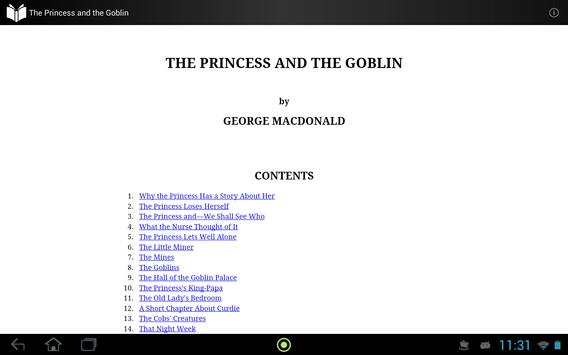 The Princess and the Goblin apk screenshot