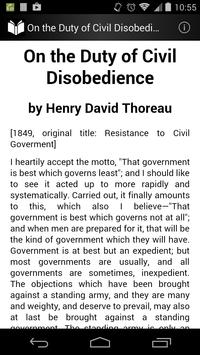On Duty of Civil Disobedience poster