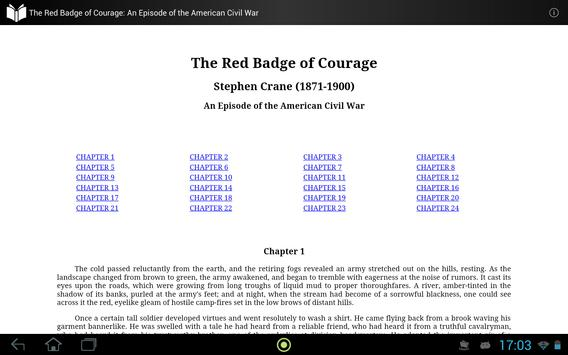 The Red Badge of Courage apk screenshot