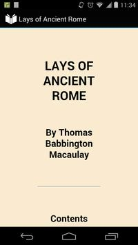 Lays of Ancient Rome poster