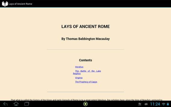 Lays of Ancient Rome apk screenshot