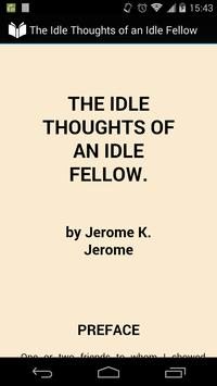 Idle Thoughts of Idle Fellow poster