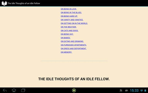 Idle Thoughts of Idle Fellow apk screenshot