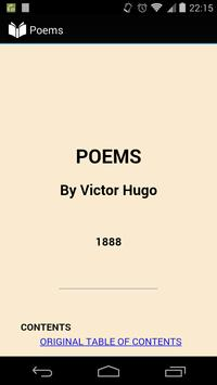 Poems by Victor Hugo poster