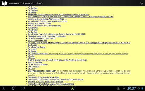 The Works of Lord Byron Vol. 1 apk screenshot