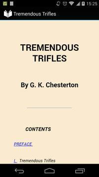 Tremendous Trifles poster