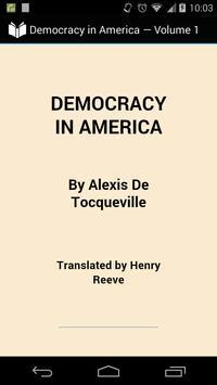 Democracy in America Volume 1 poster