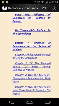 Democracy in America Volume 2 apk screenshot