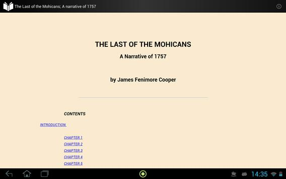 The Last of the Mohicans apk screenshot