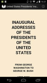 Presidents' Inaugural Speeches poster