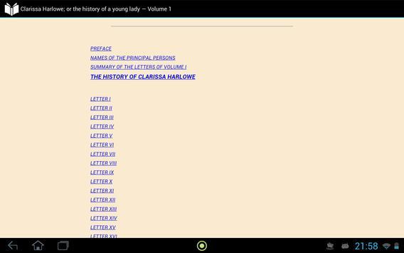 Clarissa Harlowe — Volume 1 apk screenshot