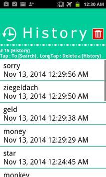 German Japanese WordDictionary apk screenshot
