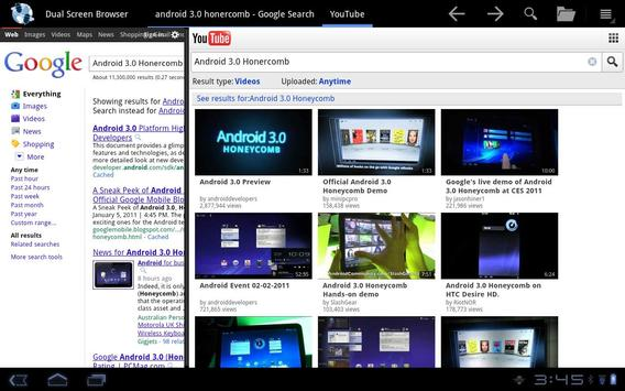 Dual Screen Browser apk screenshot