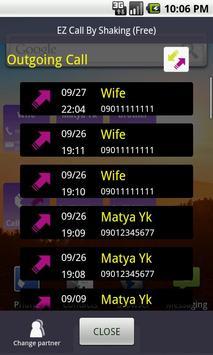EZ Call By Shaking (free) apk screenshot