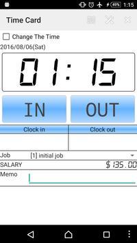 Time card apk screenshot