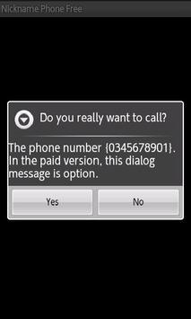Nickname Phone Free apk screenshot