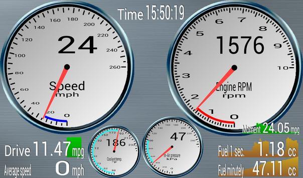 OBD Mileage (OBD2&ELM327 req.) apk screenshot