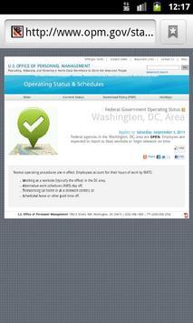 OPM Operating Status apk screenshot