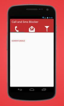 Call & SMS Blocker apk screenshot