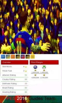 Guides PES 2016 Team apk screenshot