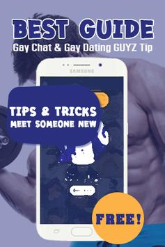 Gay Chat & Gay Dating GUYZ Tip poster