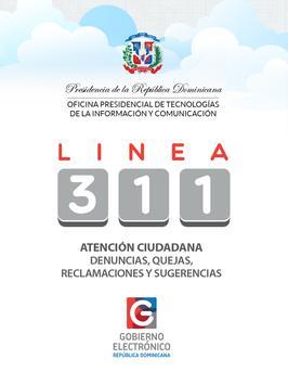 Línea 311 República Dominicana poster