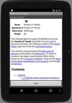 Nethack Encyclopedia Redux apk screenshot