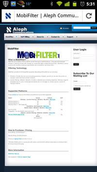 MobiFilter Browser apk screenshot