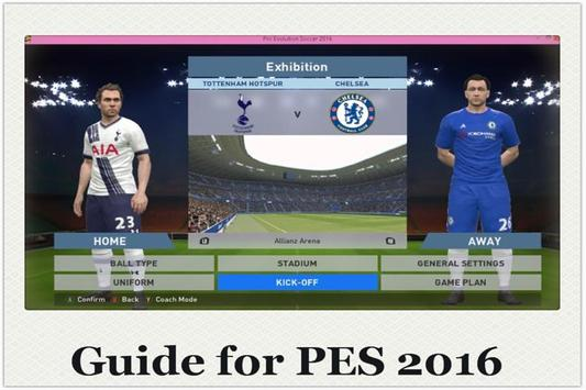 Guide for PES 2016 Soccer poster