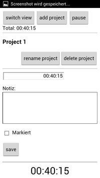 Project Time Tracker apk screenshot