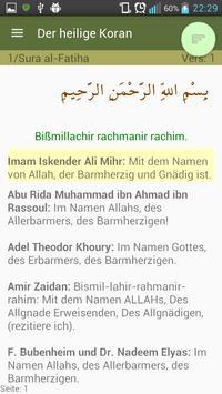 Vergleiche Koran Übersetzungen apk screenshot