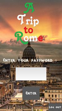 A trip to Rome poster