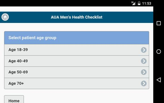 Men's Health Checklist apk screenshot