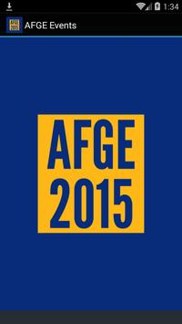 AFGE Events 2015 poster