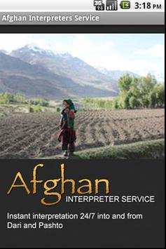 Afghan Interpreters Dictionary poster