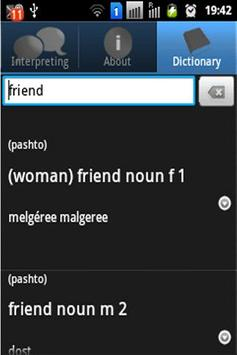 Afghan Interpreters Dictionary apk screenshot