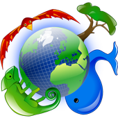 find & log animals and plants icon