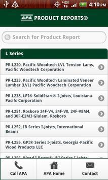 APA Product Reports apk screenshot