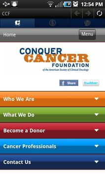 Conquer Cancer Foundation poster