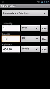 AstroPhysCalc apk screenshot