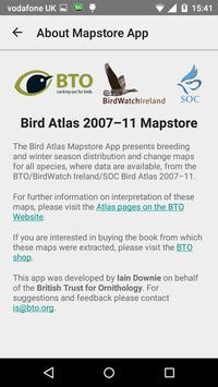 Bird Atlas Mapstore apk screenshot