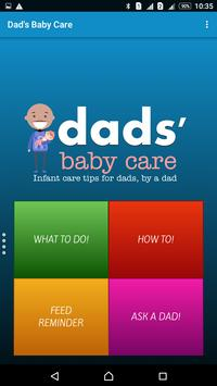 Dad's Baby Care Free poster