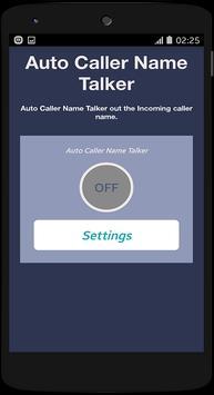 Auto Caller Name Talker apk screenshot