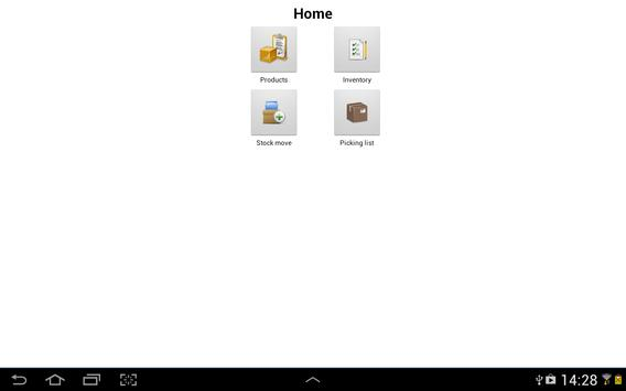 OpenERP Products apk screenshot