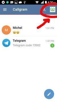 Callgram messaging with calls poster
