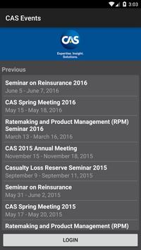 Casualty Actuarial Soc Events poster