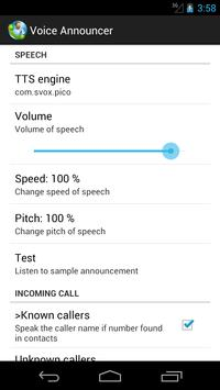 Call announcer apk screenshot